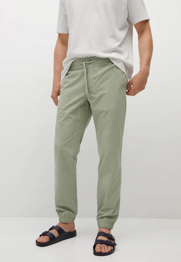 мужские брюки mango man, бирюзовые