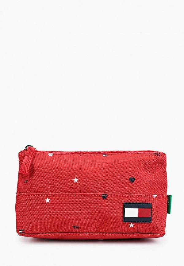 Пенал Tommy Hilfiger красного цвета