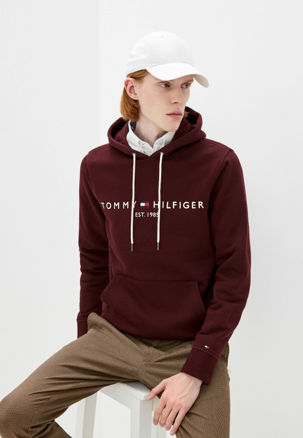 Худи Tommy Hilfiger бордового цвета
