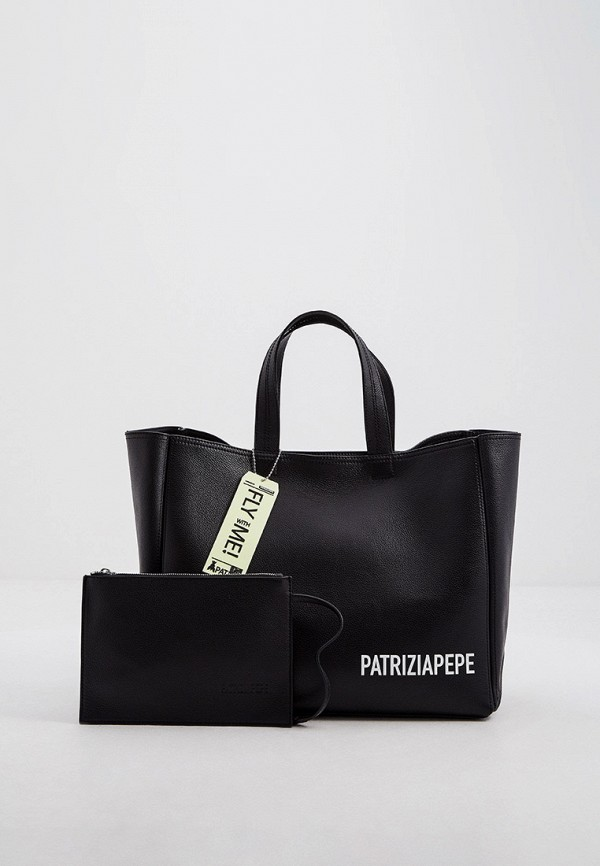 женская косметичка-шоперы patrizia pepe, черная