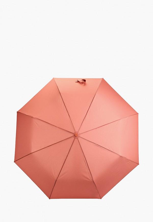 женский складные зонт mango, розовый