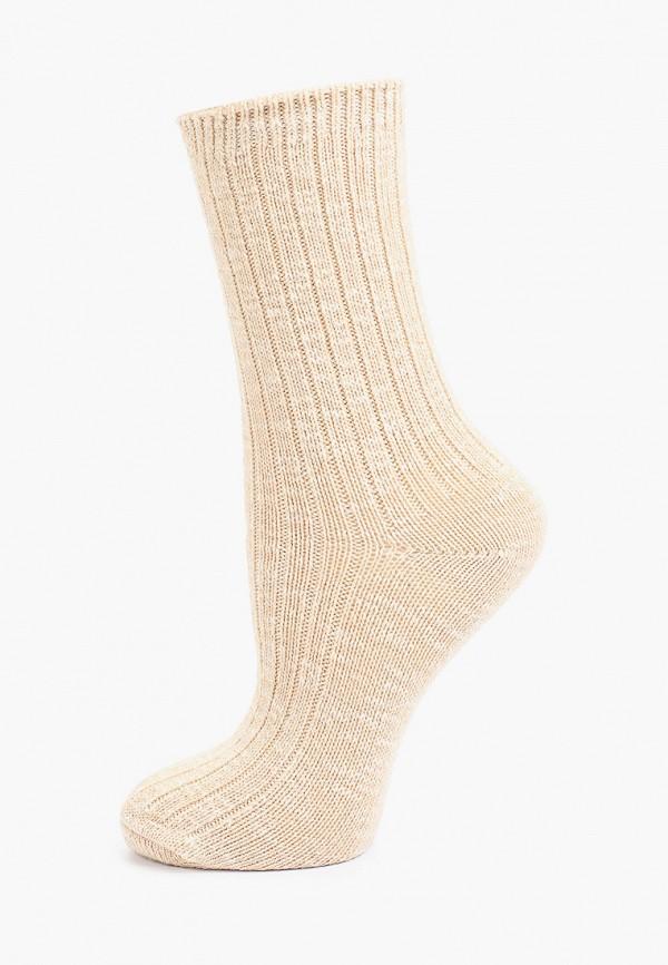 женские носки mango, бежевые