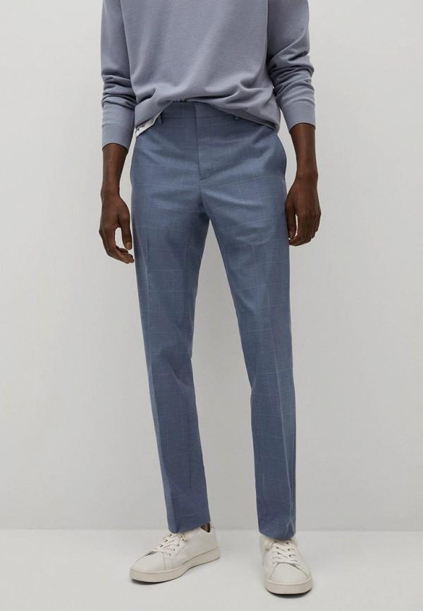 мужские классические брюки mango man, голубые