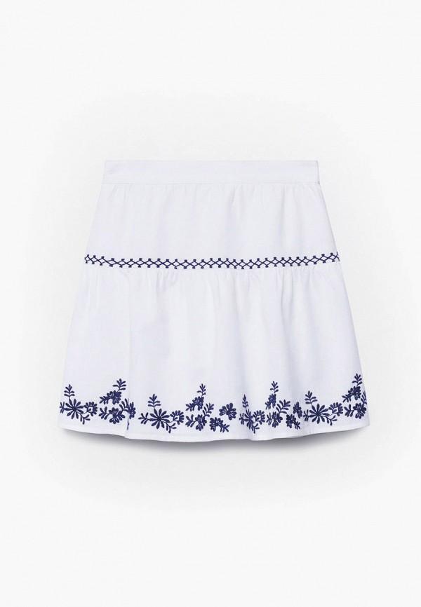 юбка mango kids для девочки, белая