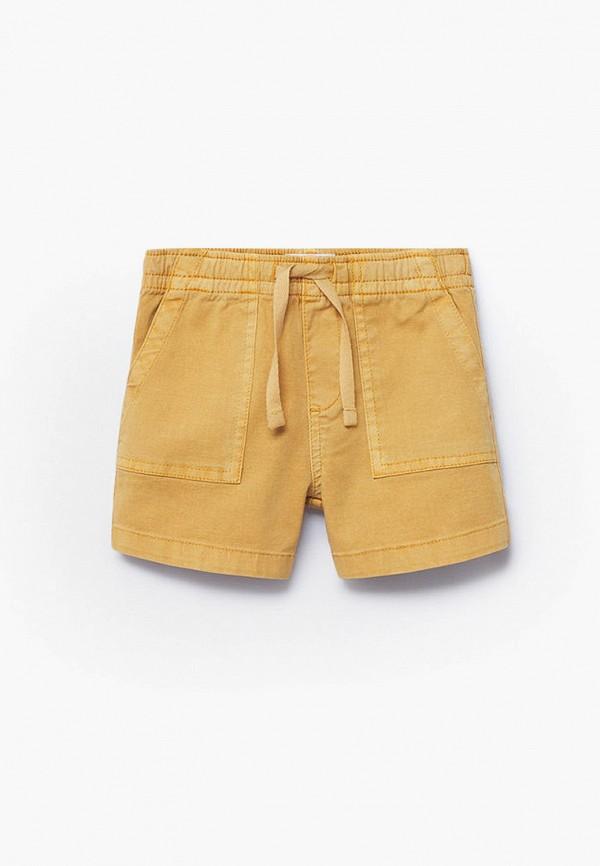 шорты mango kids для мальчика, желтые