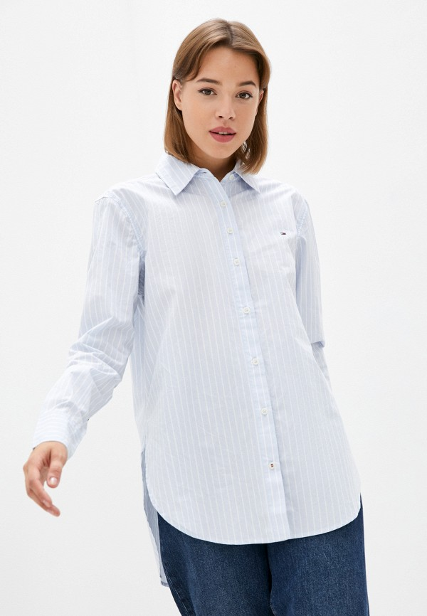 Рубашка Tommy Hilfiger голубого цвета