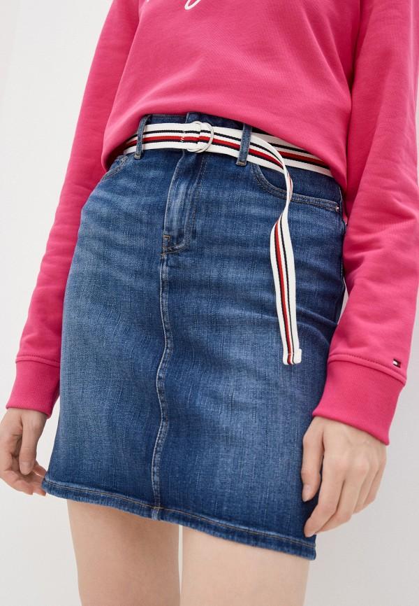 Юбка джинсовая Tommy Hilfiger синего цвета