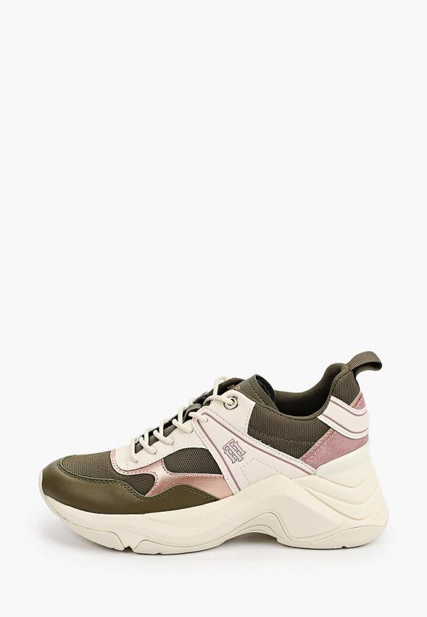 женские низкие кроссовки tommy hilfiger, хаки