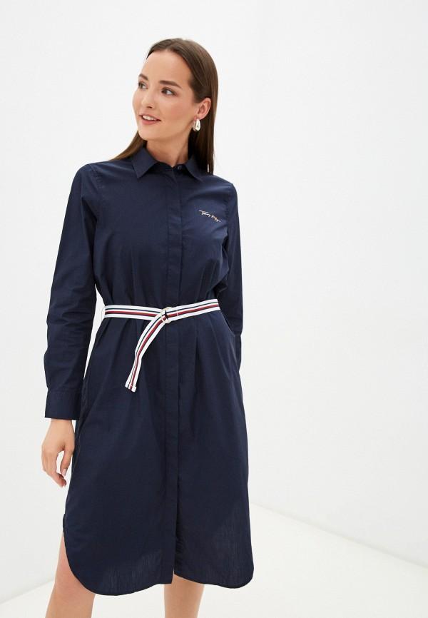 Платье Tommy Hilfiger синего цвета