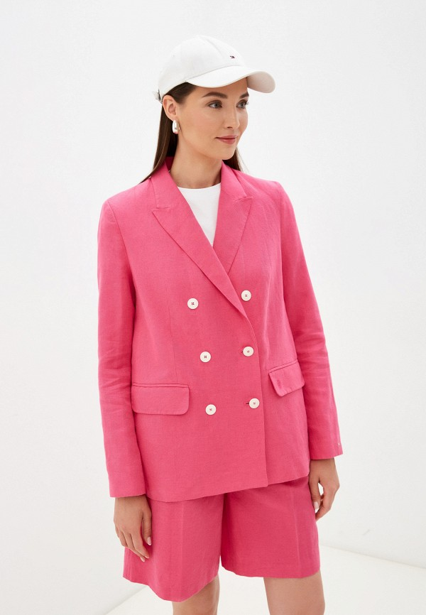 Пиджак Tommy Hilfiger розового цвета