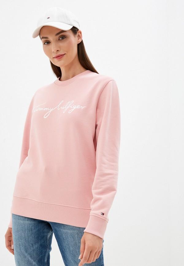 Свитшот Tommy Hilfiger розового цвета