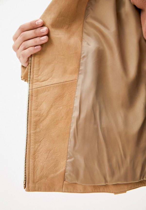 Куртка кожаная Tommy Hilfiger бежевый WW0WW31146 RTLAAL197102