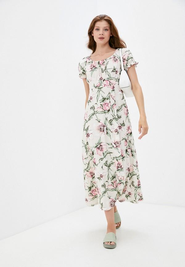 женское повседневные платье rene santi, бежевое