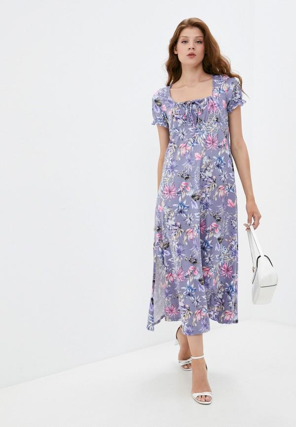 женское повседневные платье rene santi, фиолетовое