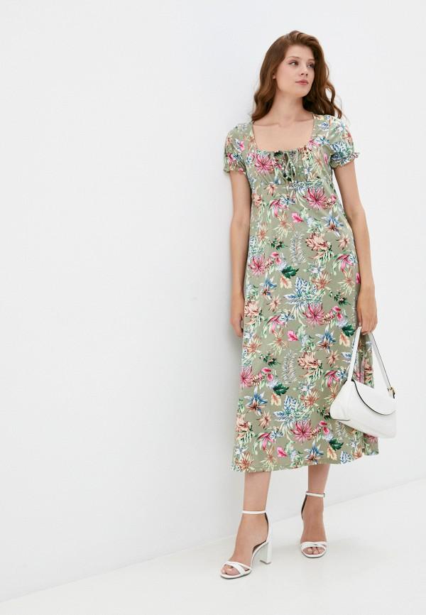 женское повседневные платье rene santi, зеленое