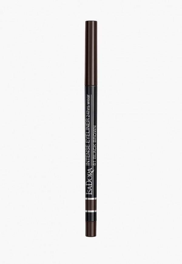 женский карандаш для глаз isadora, коричневый