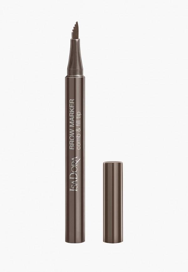 женский карандаш для бровей isadora, коричневый