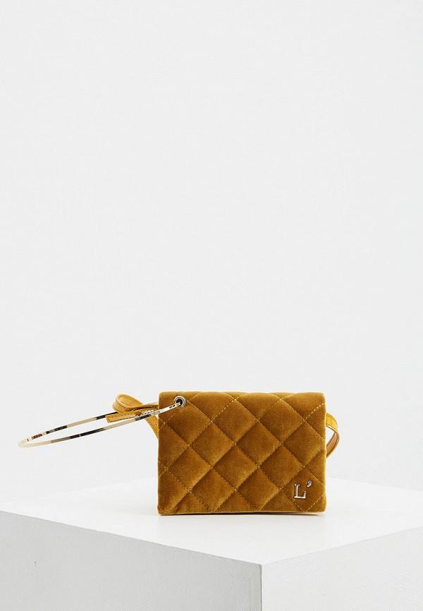 женская сумка с ручками l'autre chose, желтая