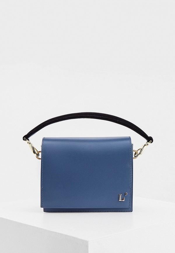 женская сумка с ручками l'autre chose, голубая