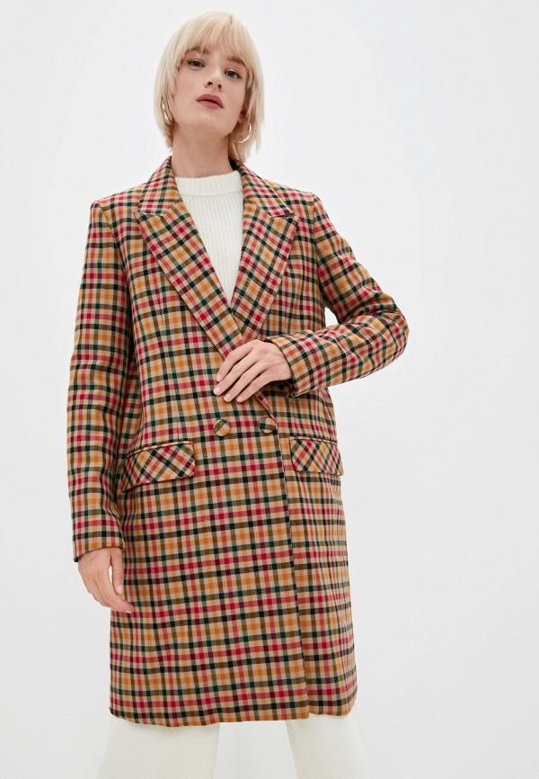 женское двубортные пальто l'autre chose, коричневое