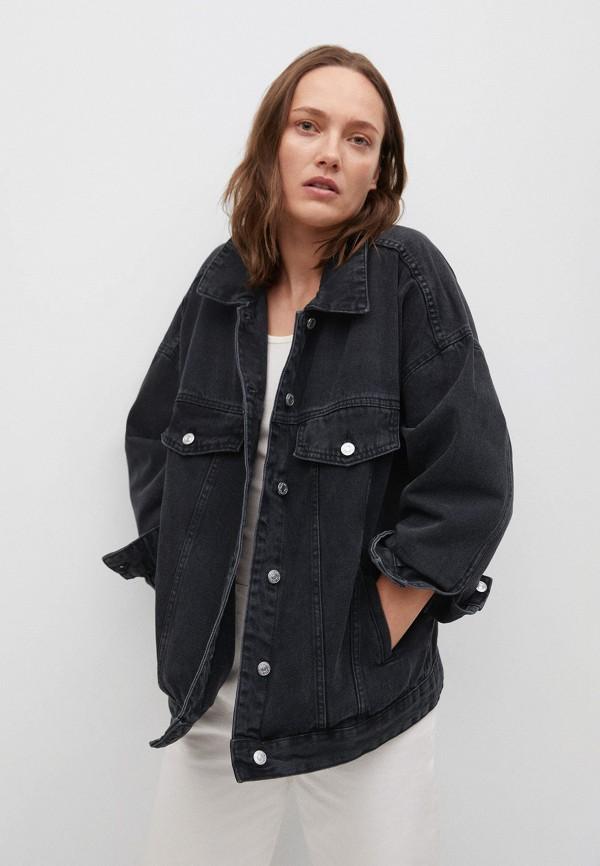 женская джинсовые куртка mango, серая