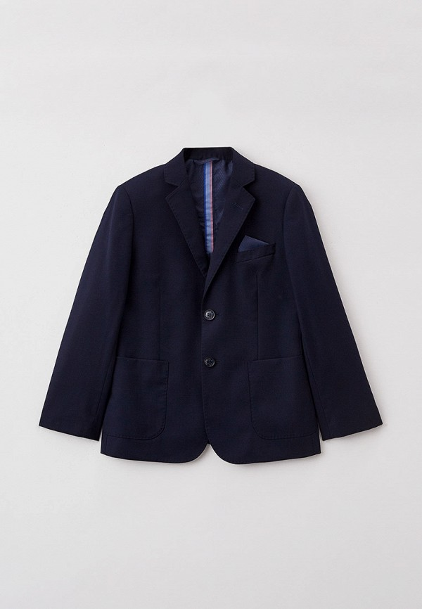 пиджак cleverly для мальчика, синий