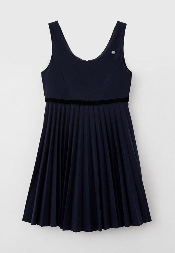 повседневные платье silver spoon для девочки, синее