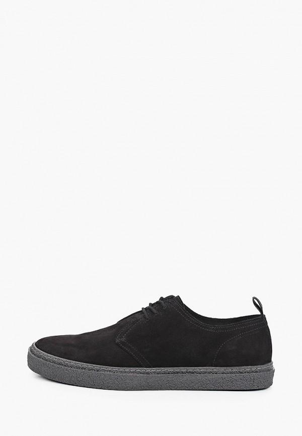 мужские туфли-дерби fred perry, черные