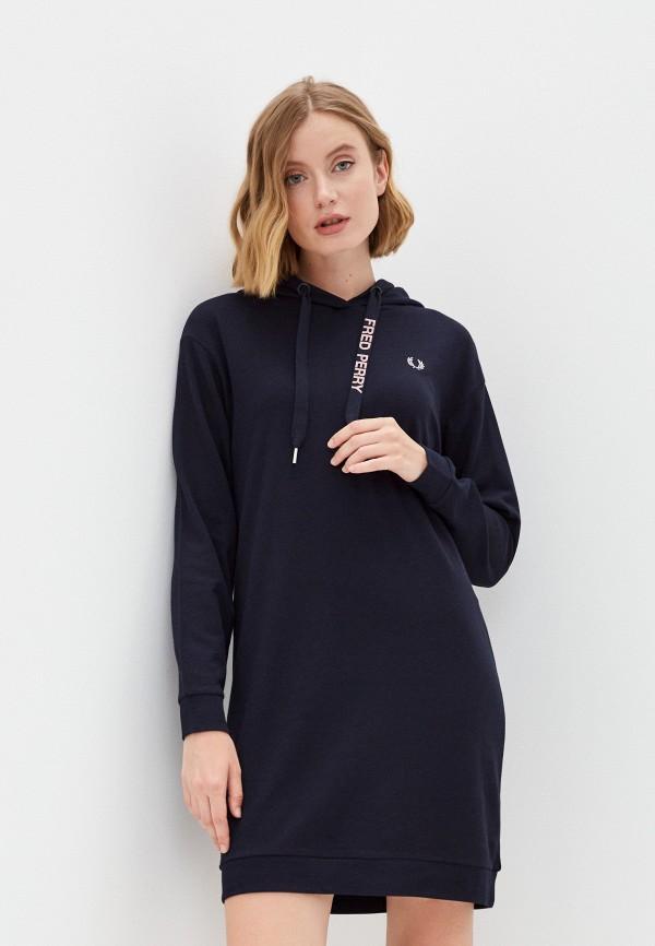 женское платье-толстовки fred perry, синее