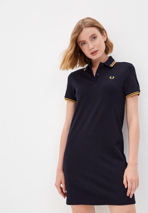 женское платье-футболки fred perry, синее