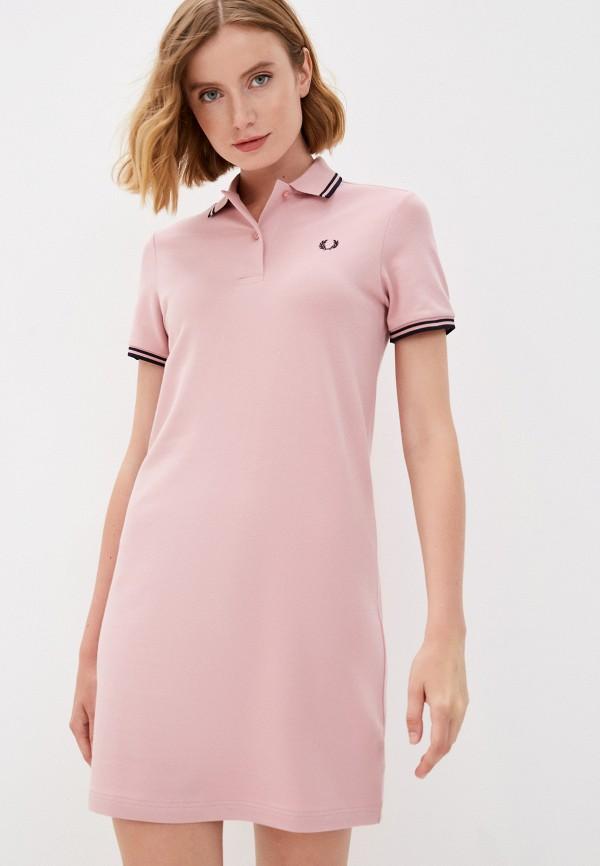 женское платье-футболки fred perry, розовое