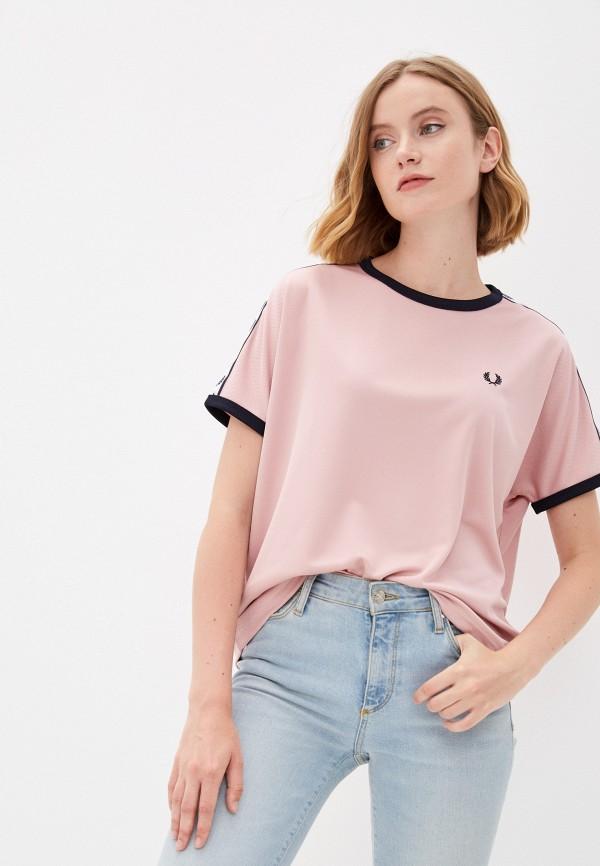 женская футболка fred perry, розовая