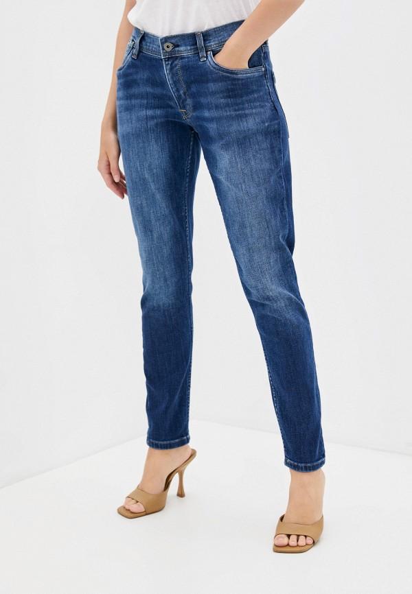 женские джинсы скинни pepe jeans london, синие