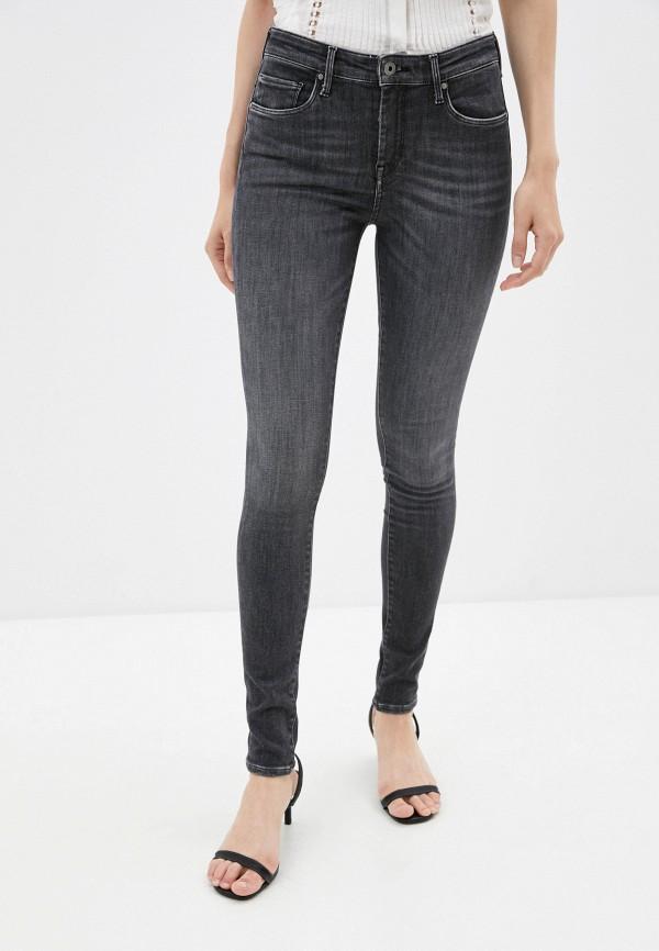 женские джинсы скинни pepe jeans london, серые