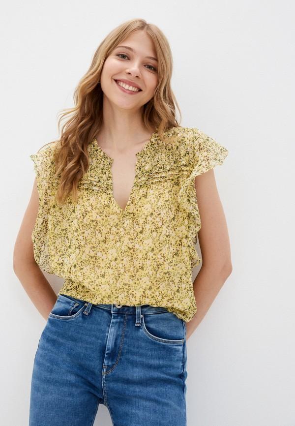 женская блузка pepe jeans london, разноцветная