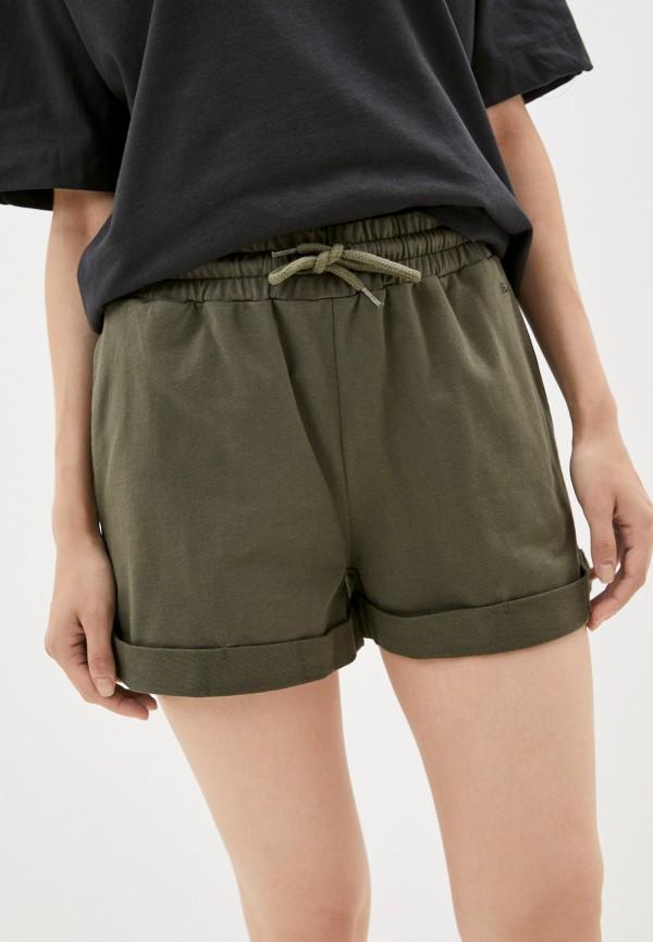 женские спортивные шорты pepe jeans london, хаки