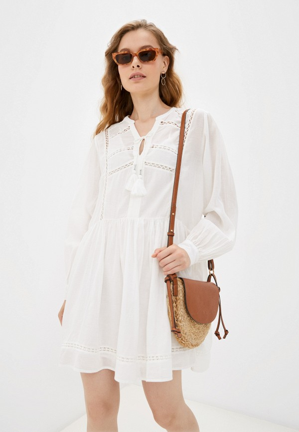 женское платье-рубашки pepe jeans london, белое