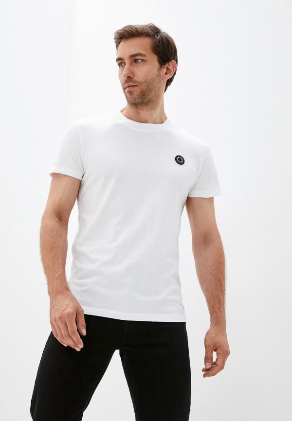 мужская футболка с коротким рукавом pepe jeans london, белая