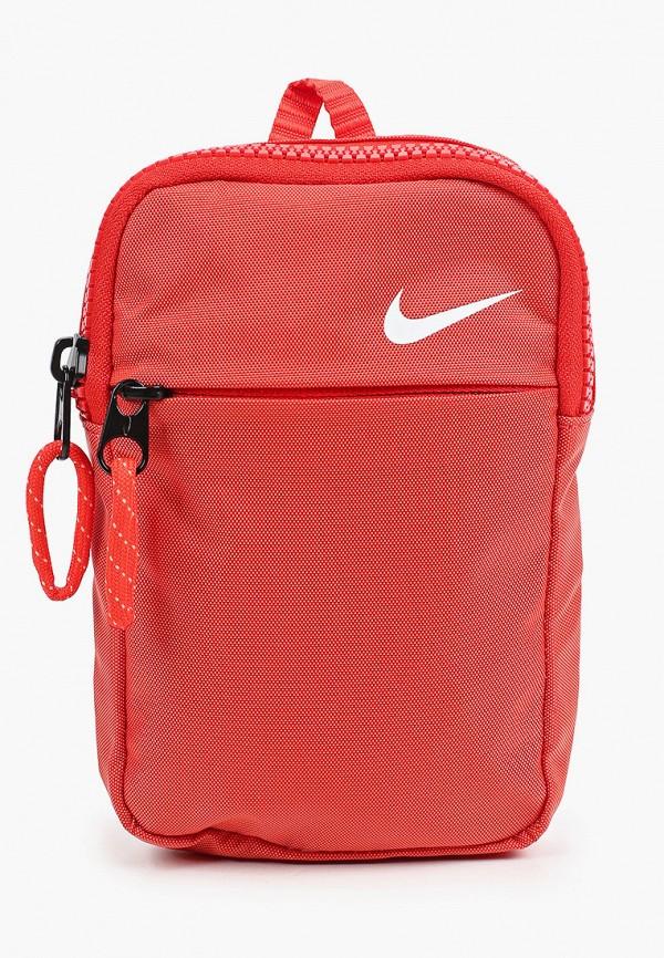 женская сумка через плечо nike, красная