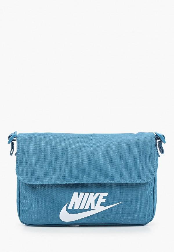 женская сумка через плечо nike, бирюзовая