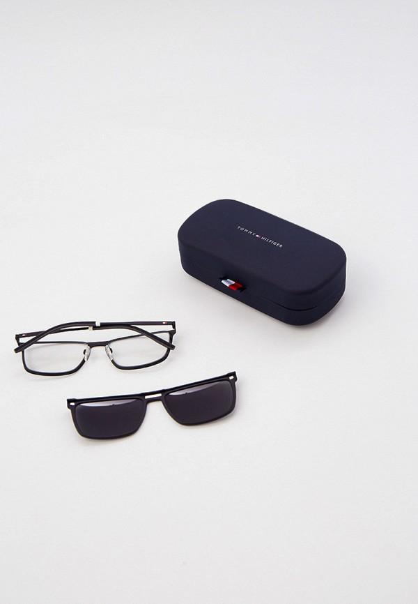мужские квадратные солнцезащитные очки tommy hilfiger, черные