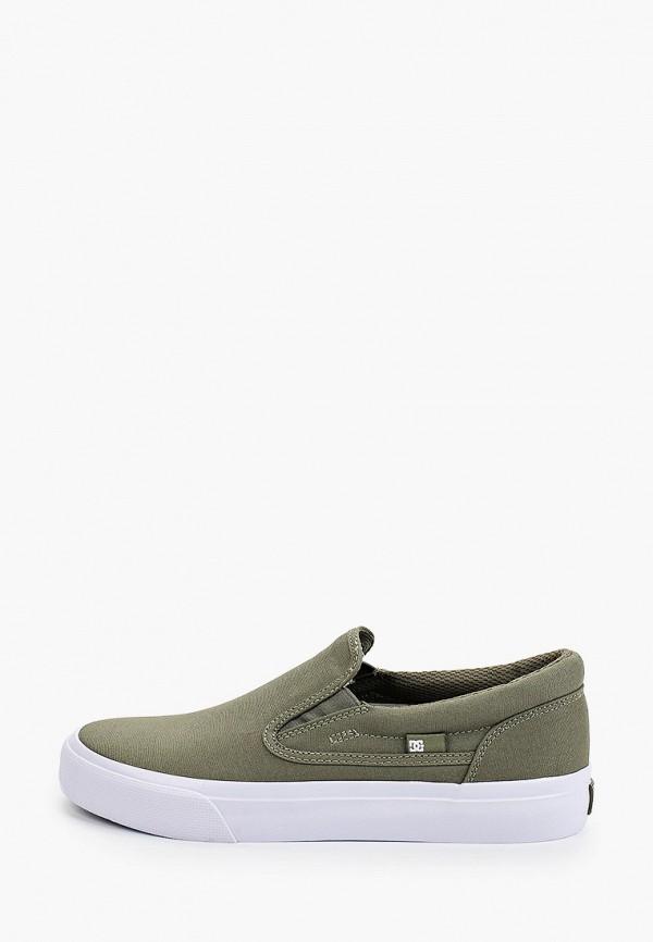 женские низкие слипоны dc shoes, хаки