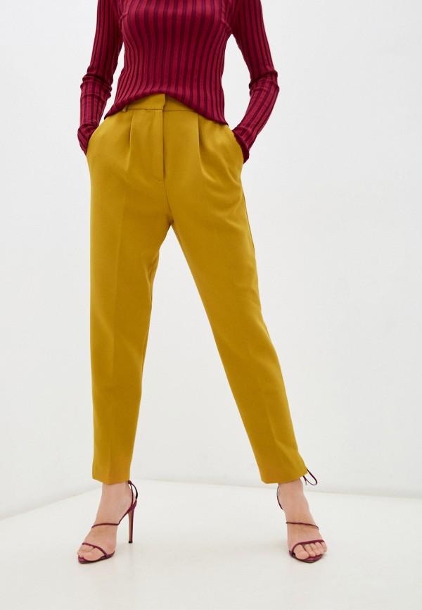 женские повседневные брюки french connection, желтые