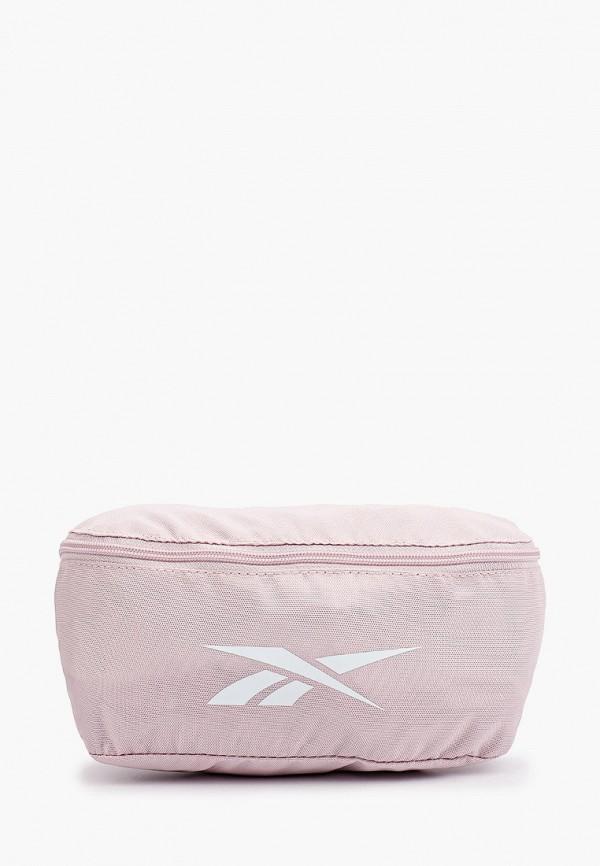 женская поясные сумка reebok, розовая