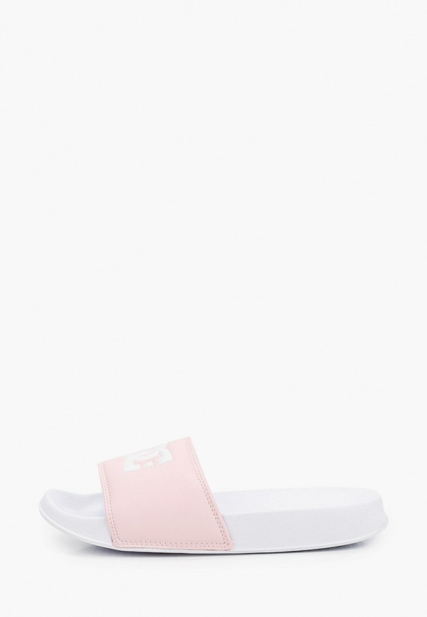 женское сабо dc shoes, розовое