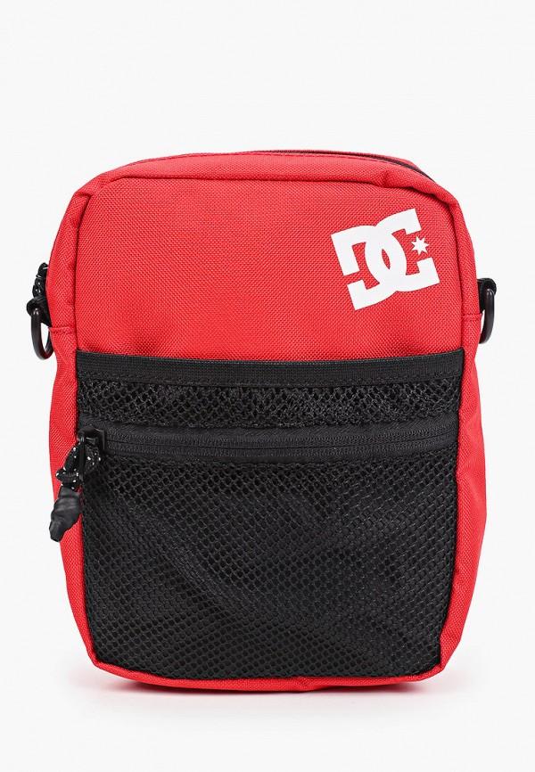 мужская сумка через плечо dc shoes, красная