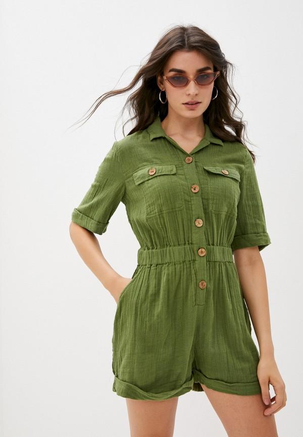 женский спортивные комбинезон roxy, зеленый