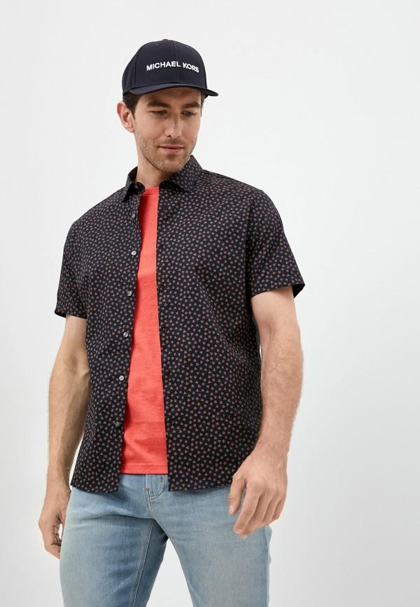 мужская рубашка с коротким рукавом michael kors, синяя