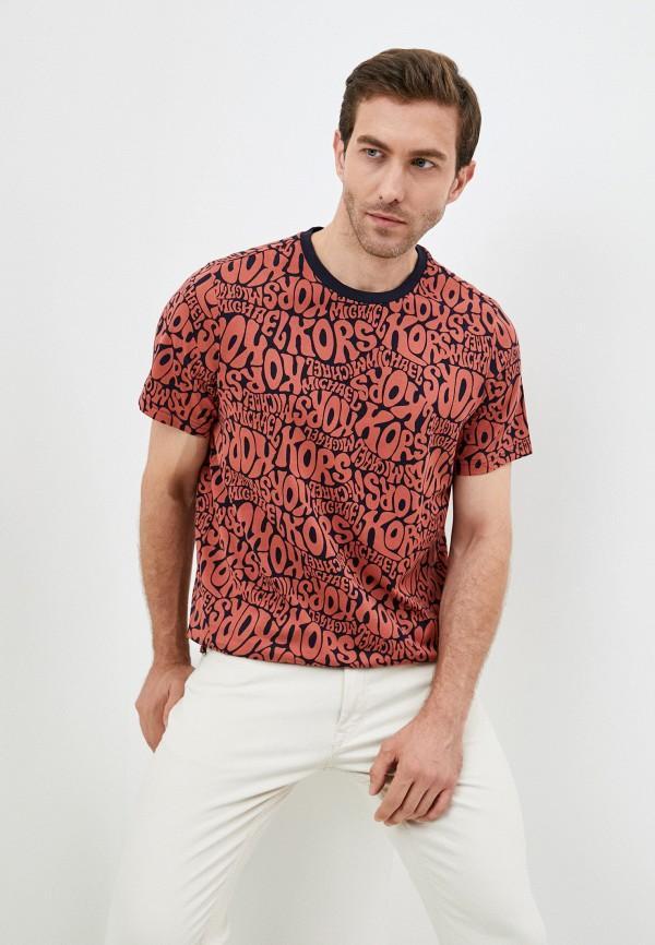 мужская футболка с коротким рукавом michael kors, розовая