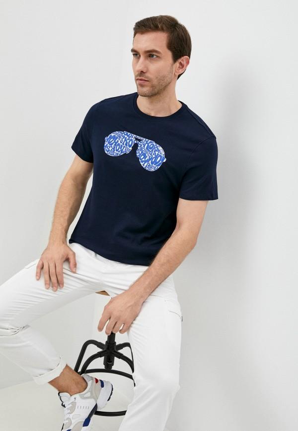 мужская футболка с коротким рукавом michael kors, синяя